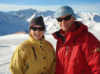 Donna and Sebastian at the Top of Axamer-Lizum