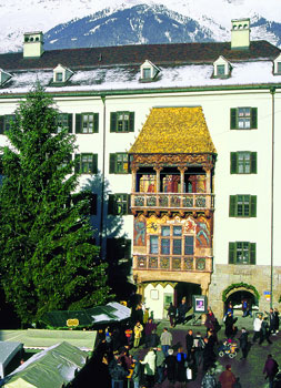 The famous Golden Roof during Christmas in Innsbruck