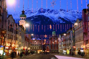 Downtown Innsbruck preparing for Christmas