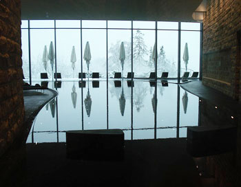 The Infinity Pool at the Dolder Hotel