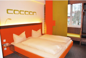 A room at the Hotel Cacoon in Munich, Germany