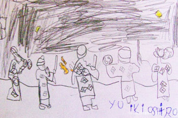 A child's drawing of the Festival