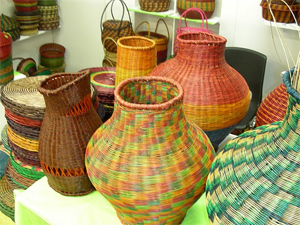 Handicrafts at the Expo.