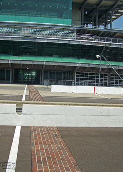 A reminder that the Speedway was once pave with bricks
