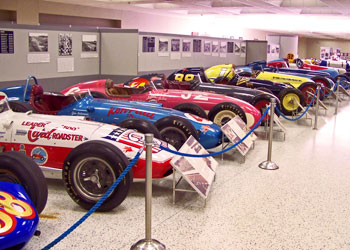 There are about 75 cars on display at any one time.
