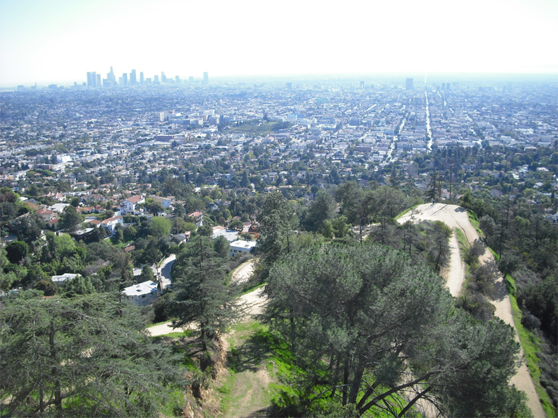 View from Griffith Park, Los Angeles. photos  by Ben Hill.