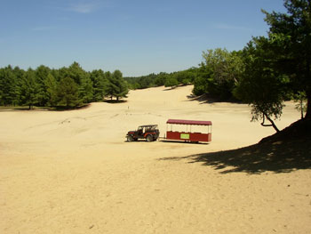The Desert of Maine started as a patch of sand and grew to cover more than 40 acres. Photos by Jen Mathews.