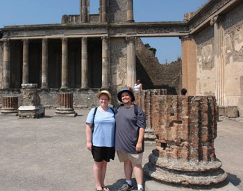 In the forum in Pompeii