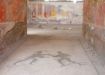 Roman mosaics and wall paintings