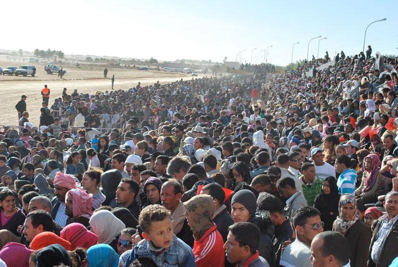 Spectators at the Festival of the Sahara in Tunisia