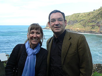 Guide Luis Daniel with travel writer Cindy Bigras.