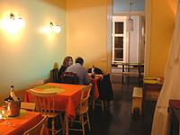 The cozy tiny dining room at Rotas, in Ponta Delgada.