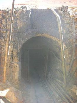 The entrance to the Cerro Rico Mine