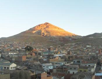 The Cerro Rico (Rich Hill) above Potosi, Bolivia