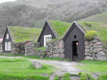 Stacy at the Skogar Folk Museum