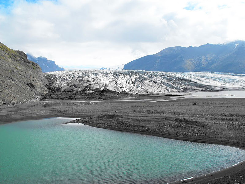 The Vatnajokull Glacier, the largest glacier in Europe