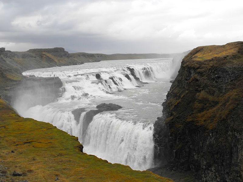 Gullfoss (Golden Falls). Photo by Jim Reynoldson.
