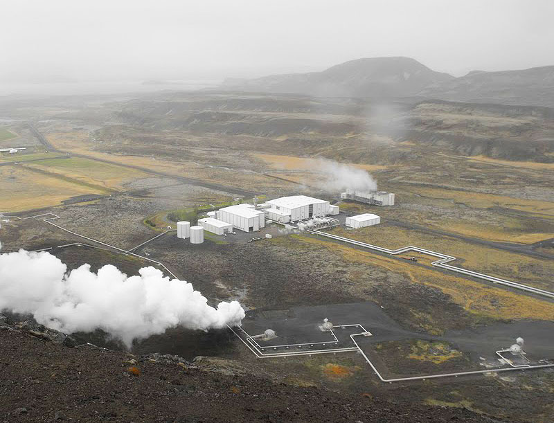 The Nesjavellir geothermal power plant in Iceland