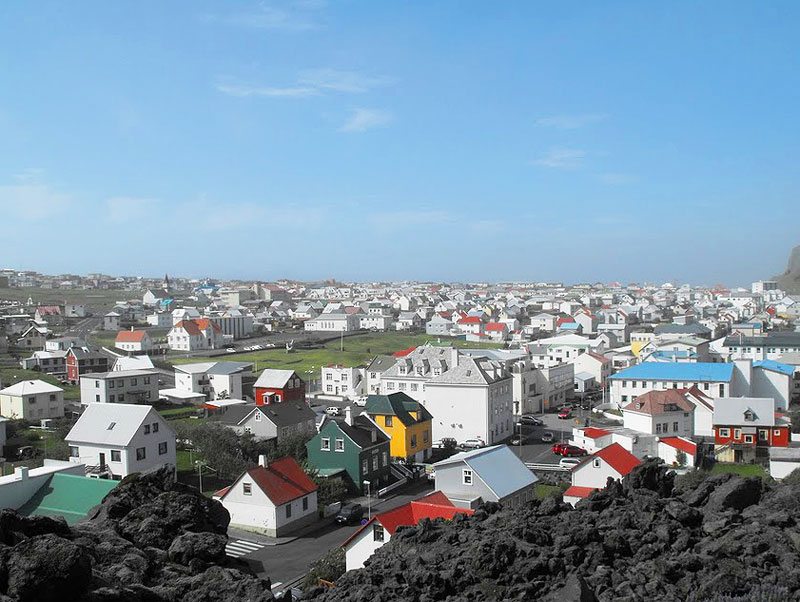 The colorful houses of Reykjavik, Iceland