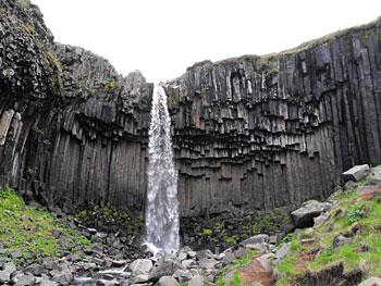 Svartifoss (Black Falls) in Skaftafell National Park, Iceland