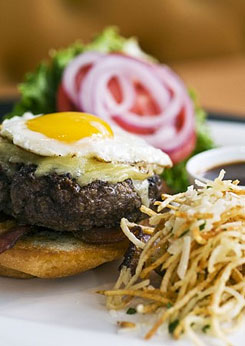 Visit TJ's at the Jefferson Hotel for the best burger in town.