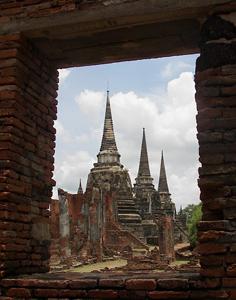 The ruins of Wat Phra Mahathat