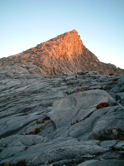 Early morning sun hits Low's Peak on Mount Kinabalu in Borneo. Photos by Michelle Perry