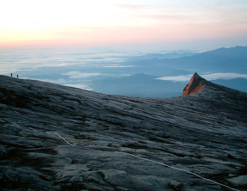 View from Low's Peak back toward Laban Rata