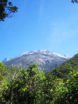 View towards the summit from park headquarters