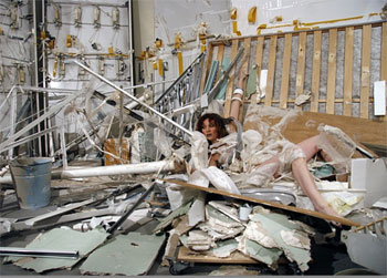 Madeline Stillwell in one of her installations