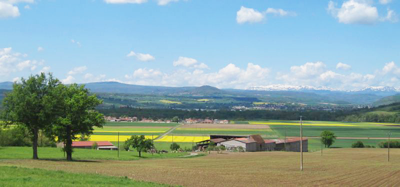 The countryside in Auvergne