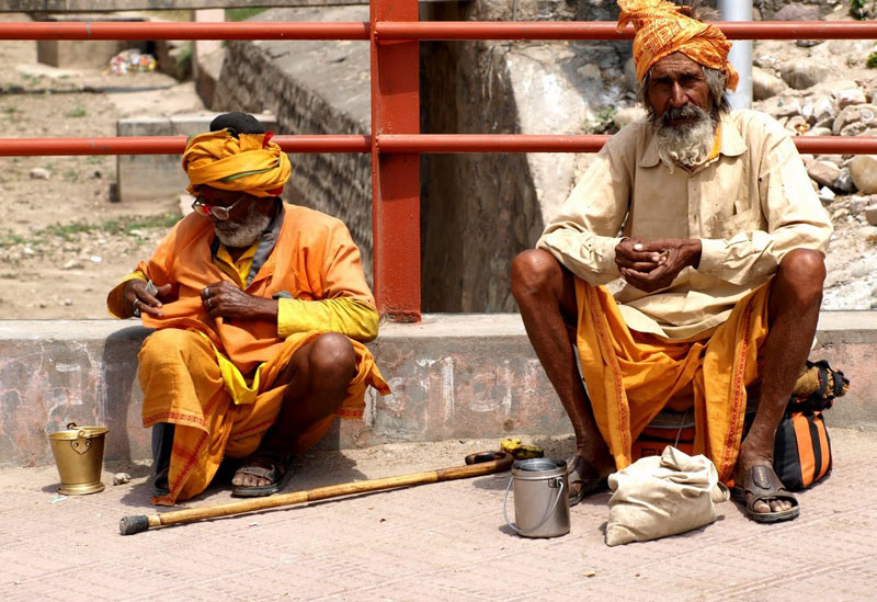 Sadhus at the Kambh Mela Festival in India