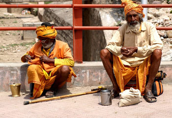 Sadhus at the Kambh Mela Festival