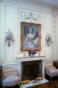 Marjorie Merriweather Post's portrait at the Hillwood Estate.