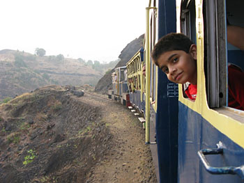 Before long we are tucked into the toy train leading to the Matheran Hill Station.