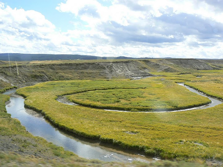 Meandering stream in northwest Yellowstone National Park.