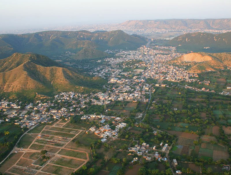View of Jaipur from the balloon