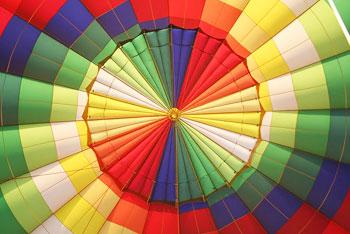 The interior of the balloon
