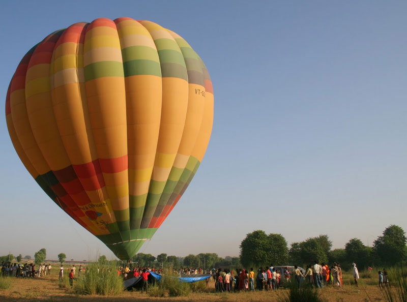 Seems Like the entire Village came after the balloon landing.