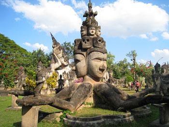 The Buddha Park in Vientiane