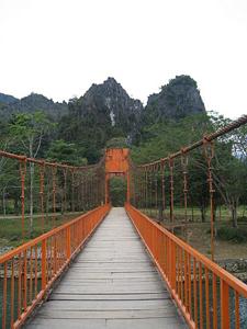Bridge in Vang Vieng, Laos. Christine Horvat photo.