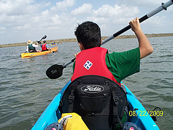 Kayaking on the Laguna Madre along the Laguna Atascosa National Wildlife Refuge in Southern Texas.