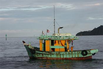 Fisning boat in Kota Kinabalu