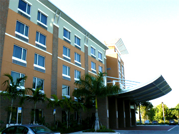 Cambria Suites, Dania Beach. A great value for cruise ship passengers and others!