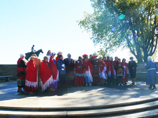 The Pochahantas Club lays a wreath on Will Rogers' tomb. Will joined the club when he was 19.