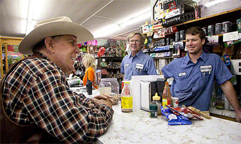Roy Scott relaxes with friends at Mosley's Store, in Pintlala, AL. photo by Paul Shoul.