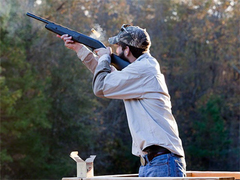Sporting clays at Great Southern. photo by Paul Shoul.