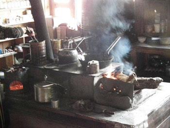 Tea house kitchen