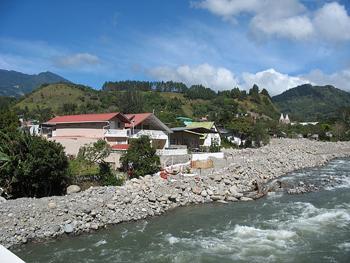 Boquete sits in a valley along the Rio Caldera