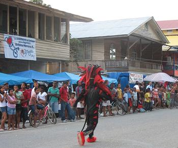 Dancing devils in Bocas del Toro.